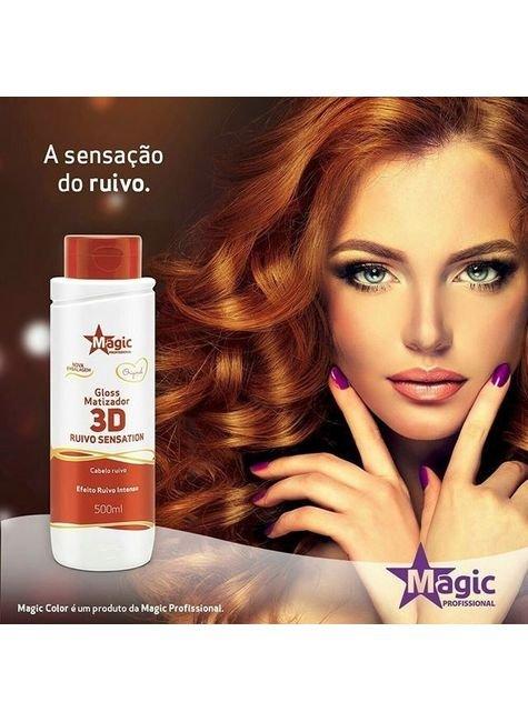 gloss matizador 3d ruivo sensation magic profissional 500ml site