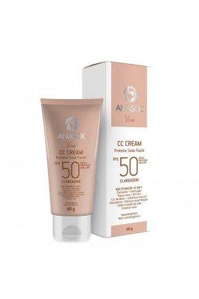 protetor solar facial anasol cc cream fps 50 60g clareador