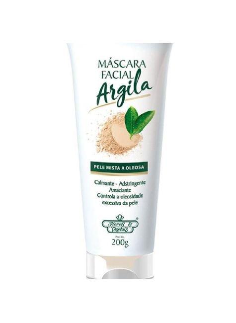 mascara flores vegetais facial argila bisnaga 200g