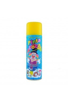 tinta spray pinta loca decorativa amarelo flash 150m