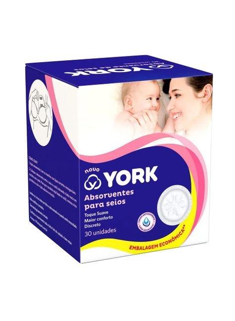 absorvente para seios york 30 unidades pacheco 557820 1