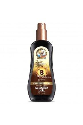 protetor solar corporal fps 8 australian gold instant bronzer spray gel 237ml