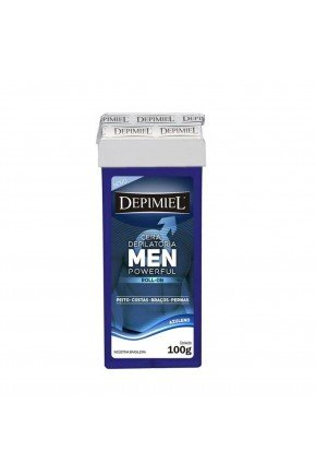cera depilatoria roll on men powerful 100g depimiel
