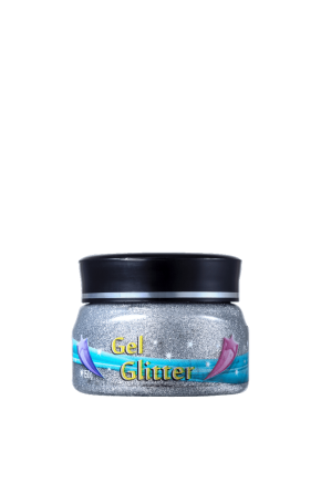 gel glitter prata frente