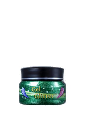 gel glitter verde f
