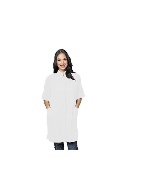 jaleco oxford feminino manga curta branco