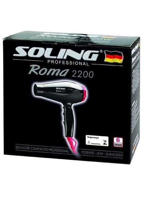secador roma 2200 preto com rosa