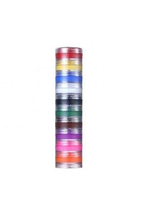 kit colormake tinta facial cremosa 10 cores 25263