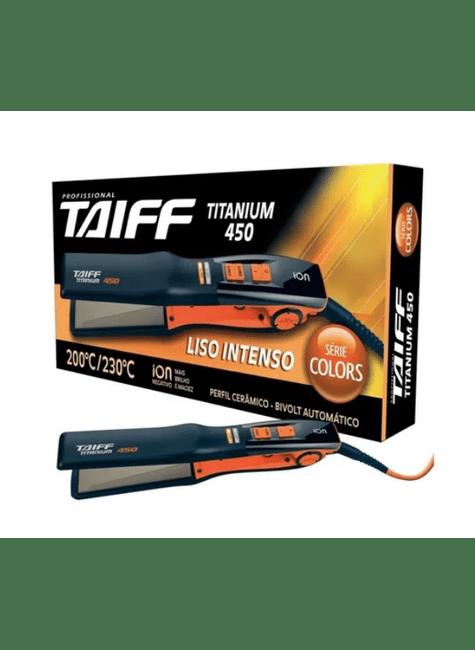 chapinha prancha taiff titanium 450 colors 230 c com emissao de ions laranja bivolt majare