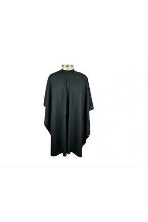 Capa em Seda Lisa para corte com manga, botão e elástico preta Santa Clara