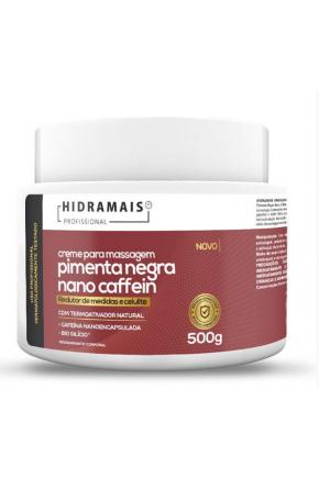 Creme para Massagem Pimenta Negra Nano Caffein Hidramais 500 g
