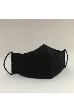 mascara tecido 3d preta majare