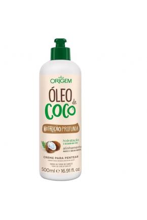 creme para pentear oleo de coco origem majare brasil