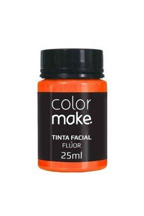 tinta liquida facial colormake fluor laranja 25ml 18412