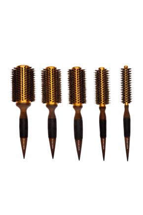 kit escovas dourada marco boni